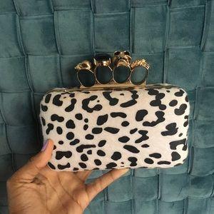 Handbags - Dalmatian print clutch
